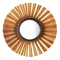 Crimped Metallic Decorative Mirror,