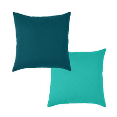 BrylaneHome® Studio Reversible Quilted Square Pillow, PEACOCK LAGOON