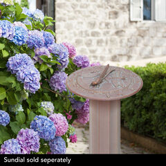 Aluminum Roman Sundial Pedestal,