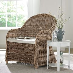 Whitman Oversized Wicker Chair,