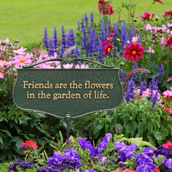 Friends Are The Flowers Garden Poem Sign Outdoor Decor Brylane Home