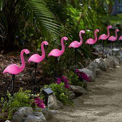 Flamingo Solar Stake Lights, Set of 10,