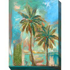 Modern Palms #1 Outdoor Wall Art,