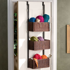 Over The Door 3 Tier Basket Storage,