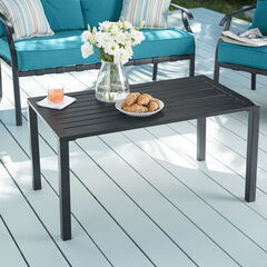 Steel Slat Coffee Table, BLACK