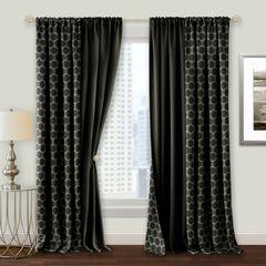 Prelude Reversible Blackout Rod Pocket Curtain Panel,
