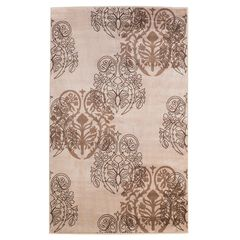 Milan Ivory/Brown Area Rug Collection,