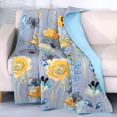 Greenland Home Fashions Watercolor Dream Quilted Throw Blanket,