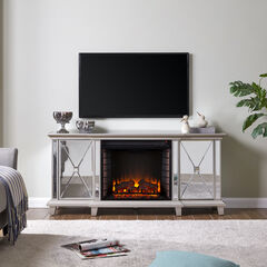Toppington Mirrored Fireplace Media Console,