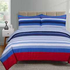 Harbor Stripe Comforter Set,