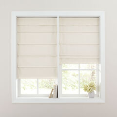 Cordless Large Fold Textured Roman Shade,