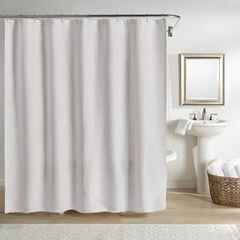 Sunset European Matelassé Shower Curtain, GRAY