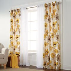 BH Studio Canvas Poppy Print Grommet Panel,