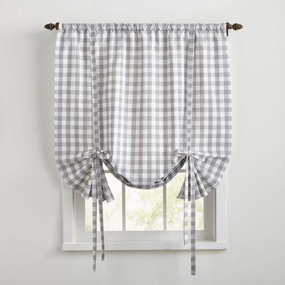 Buffalo Check Tie-Up Window Shade,
