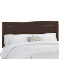 Upholstered Nail Button Border Headboard in Velvet,