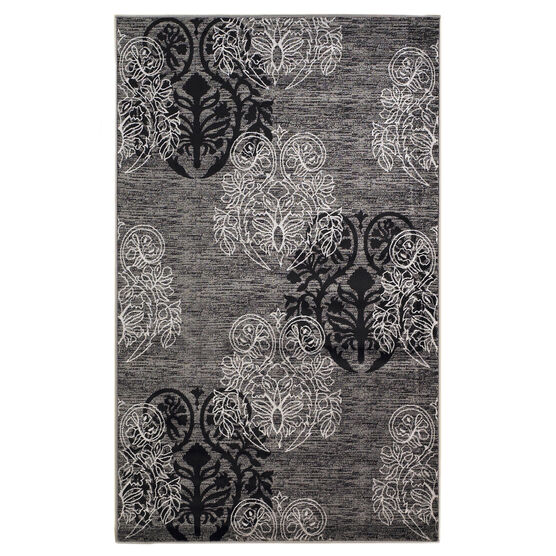 Milan Black/Grey 5'X8' Area Rug, BLACK GREY