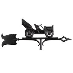 "30"" Antique Auto Accent Weathervane, BLACK"