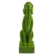 Moss Dog Statue,