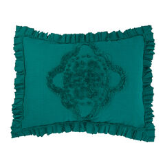 Madison Chenille Sham, EMERALD