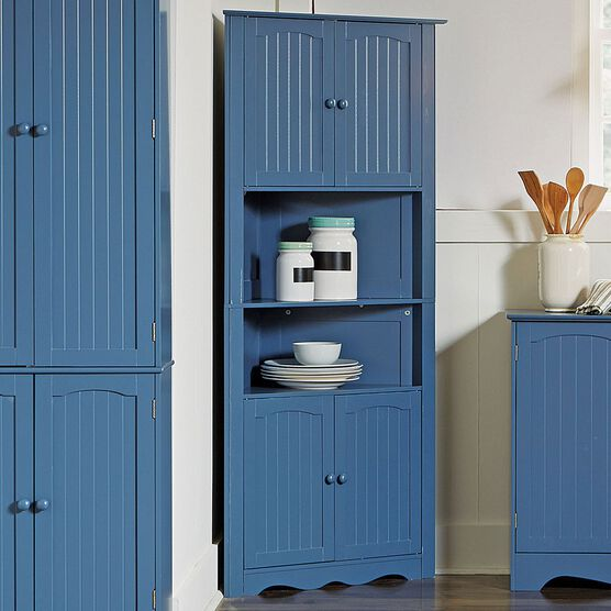 BrylaneHome® Country Kitchen Corner Cabinet