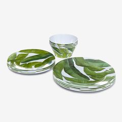 Banana Leaf 12-Pc. Dinnerware Set,