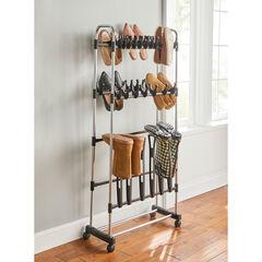 Rolling Boot Storage Rack,