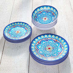 Blue Casab 12-Pc. Dinnerware Set,