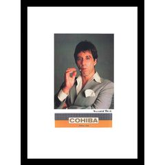 Cohiba Al Pacino 14x18 Framed Print, GREY ORANGE