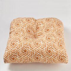Tufted Wicker Chair Cushion, LEISURE FRESCO CLAY