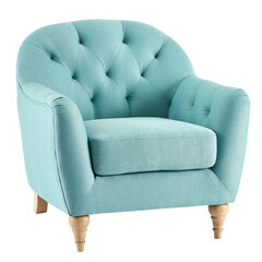 Mae Extra Wide Tufted Occasional Chair,