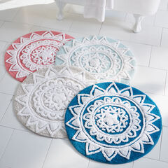 Pandora Round Cotton Bath Rug, SWEET PEA