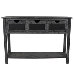 3-Drawer Console Weathered Chalkboard,