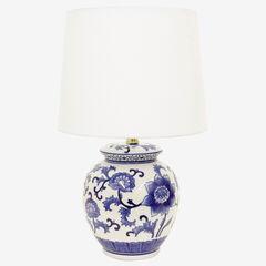 Blue Flower Table Lamp,