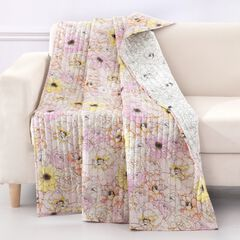 Greenland Home Misty Bloom Quilted Throw Blanket,