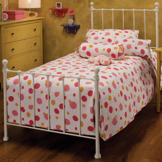 "Twin Bed with Bed Frame 76""L x 39 ½""W x 48 ½""H,"