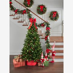 7' Pre-Lit Arrow-Tip Color Changing Tree, GREEN