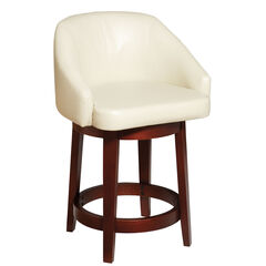 Nina Swivel Counter Stool, ECRU