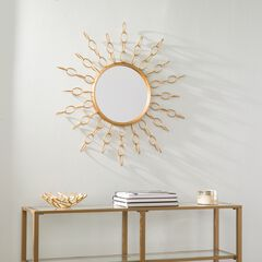 Salix Oversized Gold Starburst Mirror,