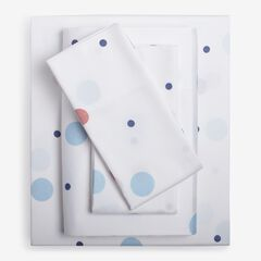 300-TC Cotton Printed Bed Tite™ Sheet Set, BLUE DOTS