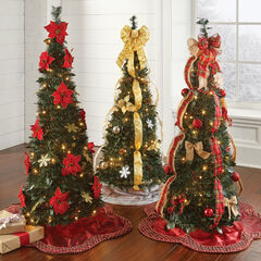 Flat-To-Fabulous Fully Decorated Pre-Lit 4½' Christmas Tree,