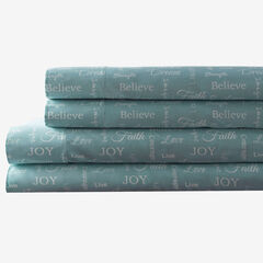 Printed Microfiber Sheet Set, AQUA INSPIRATIONAL
