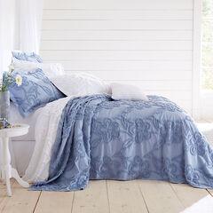 Flora Chenille Bedspread, PERIWINKLE