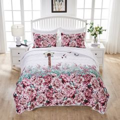 Bailey's Birdhouse White Quilt Set by Barefoot Bungalow,