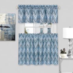 Avery Window Curtain Tier Pair and Valance Set,