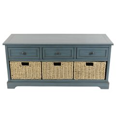Montgomery Bench Antique Navy by J. Hunt,