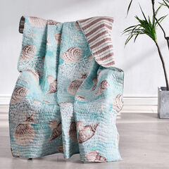 Ocean Turquoise Throw Blanket,