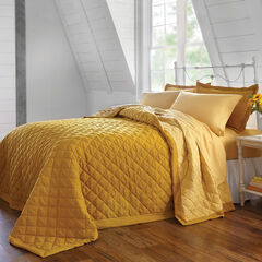 BH Studio Reversible Quilted Bedspread, GOLD MAIZE