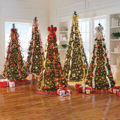 Flat-To-Fabulous Fully Decorated Pre-Lit 7½' Christmas Tree,