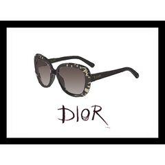"Christian Dior Sunglasses Black 14"" x 18"" Framed Print,"