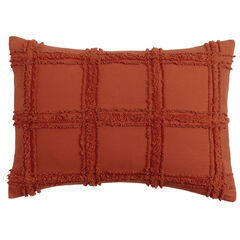 Window Pane Chenille Sham, TERRACOTTA